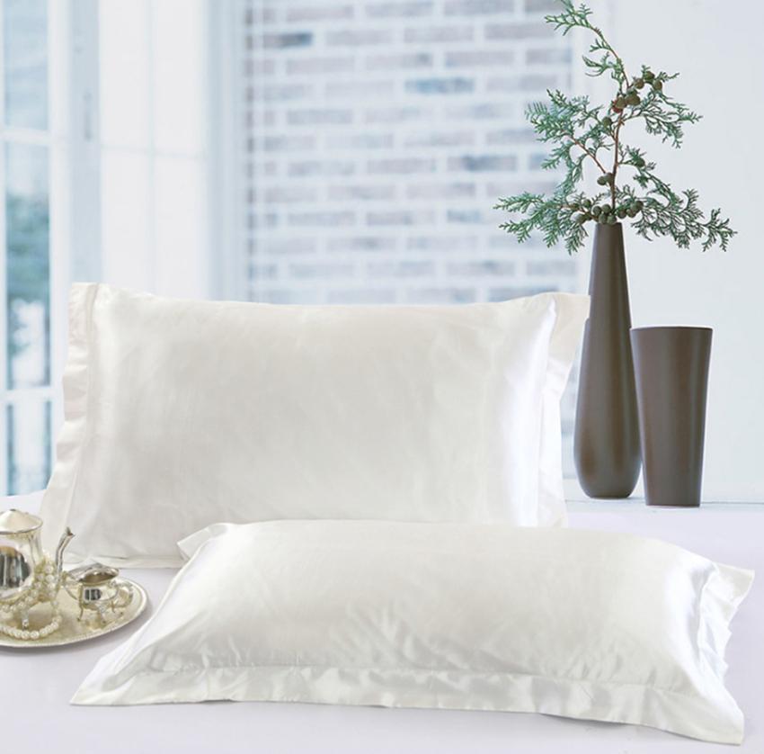 Solid Color Silk fronhas cara dobro Envelope Design caso Pillow de alta qualidade Charmeuse de cetim de seda fronha GGA100