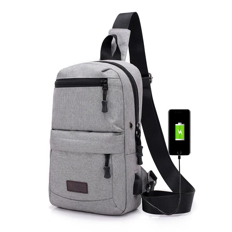 60b391ad9e 2018 New Anti Theft Men Smart Chest Bag USB Charging Crossbody Bags  Multifunction Shoulder Bag Men Casual Chest Pack Swimming Bags Pink Fanny  Pack From ...