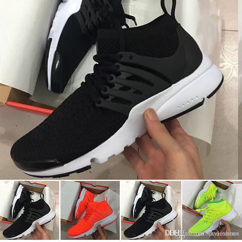 Compre NIKE AIR PRESTO 5 2018 Prestos 5 Zapatillas Para Correr Hombres Mujeres Presto Ultra BR QS Amarillo Rosa Oreo Zapatillas Para Correr Para