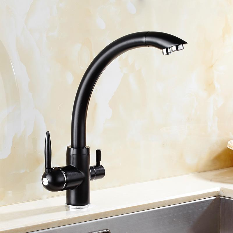 2018 New Arrival Brass Material 360 Degree Black Kitchen Faucet ...