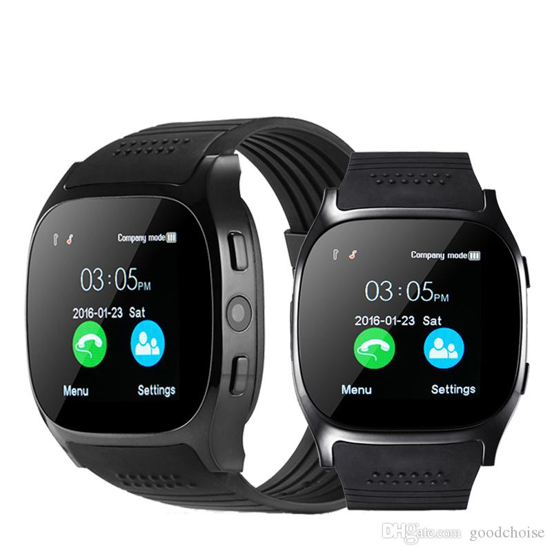 T8 Bluetooth Smart Watch Support SIM TF Card With Camera Sports Wristwatch Music Player For Android