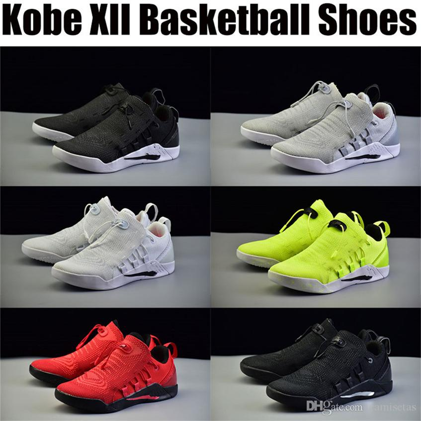 save off 0a1a8 0d22f Cheap Kobe 12 Bryant XII Orange Shoes Basketball Slippers Trainers Men s  Dark Jerseys Low Outdoors Indoors Sports Exercise Original