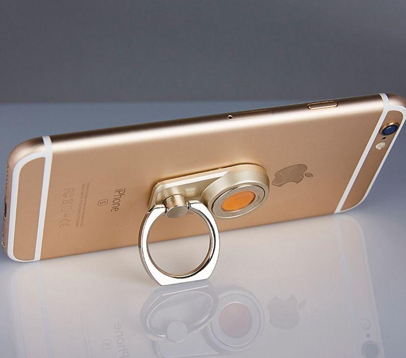 Criativo 2 em 1 Universal Multifuncional Magnetic Car Mount suporte do anel suporte de suporte de telefone móvel de mesa de aço de montagem 360 rotação