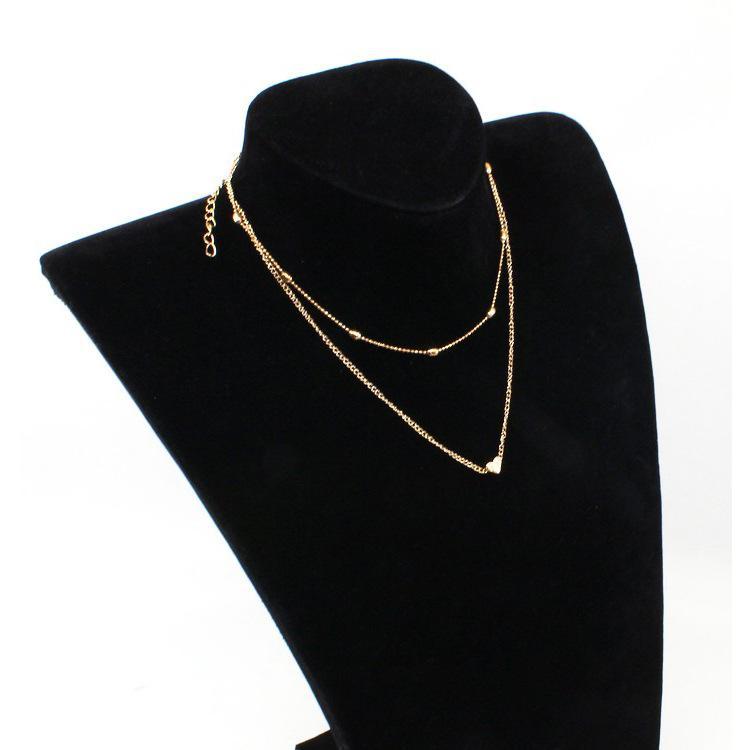 feb28b2cffee Compre Laamei Mujeres Collares De Cadena De Oro Collares Étnicos  Gargantilla Collar Collar De La Joyería Bohemio Multicapas Collar De  Corazón Minúsculo Para ...