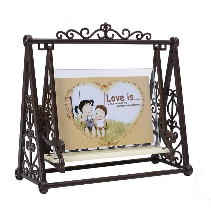 2017 Creative Vintage LOVE Swing Couple Decoration Frame 5inch Retro ...