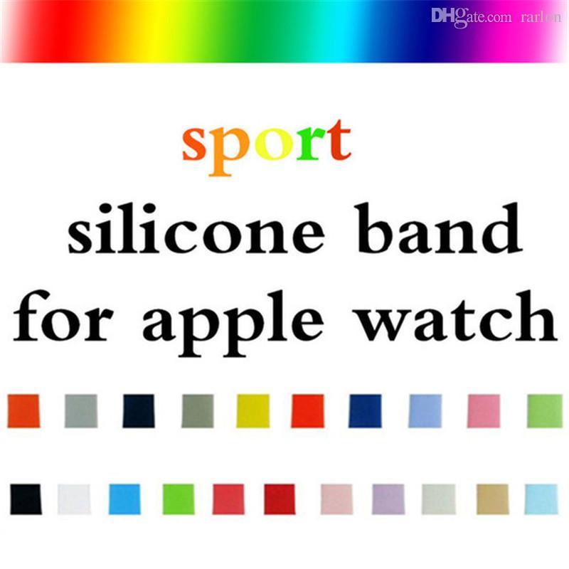 Nuovi cinturini sportivi in silicone a i di ricambio cinturino da polso con cinturino in cinturino Apple con adattatori accessori 38mm 40mm 42mm 44mm cinturino