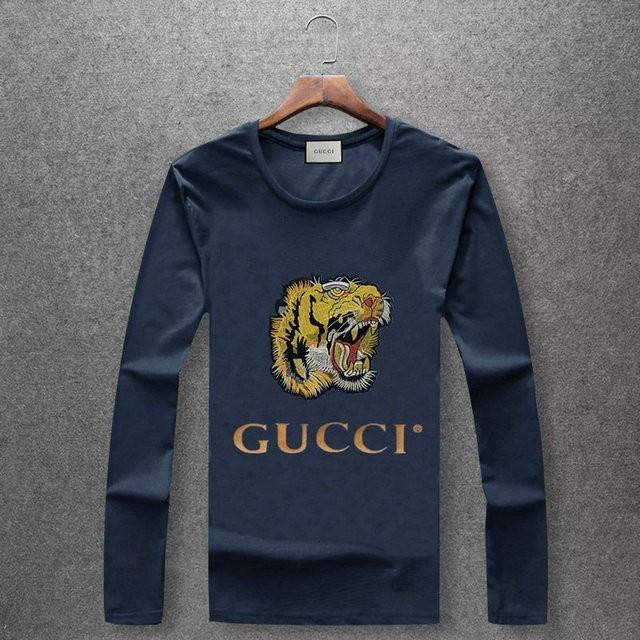4821711891117d 2018 New Men'S Mercerized Long Sleeved T Shirt. Tiger Head Embroidery, Soft  And Smooth Fabric, Five Colors Online Shopping Tee Shirts Crazy T Shirts  For Men ...