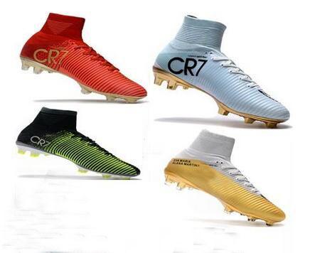 58f6193b9c2 Compre 2019 Novos Homens Cristiano Ronaldo Mercurial Superfly Iv FG CR7 501  Bota Sapatos De Futebol De Ouro Branco Cr7 Capítulo 5 Mens Tênis De  Treinamento ...
