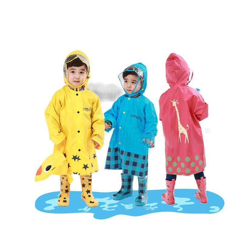 2368bd1a7 Cute Kids Raincoat Girls Boys Rainwear Cartoon Children Waterproof ...