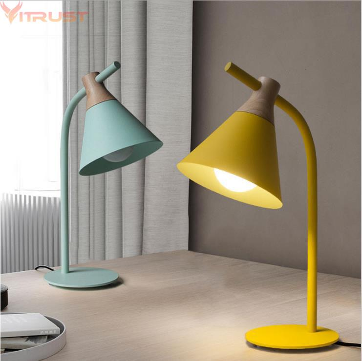 2019 Nordic Table Lamps Lights Fixture Bedroom Bedside Wooden ...