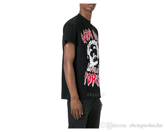GCDS T-shirt Hommes Italie pur coton respirant à manches courtes strat fashion skateboard hiphop causal Dieu ne peut pas détruire Streetwear