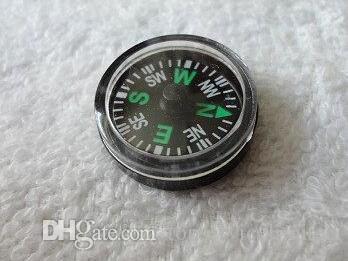 OPP Bag 20mm Diameter Button Mini Compass Plastic Mini Button Size Compass Pocket Compass For Hiking Camping Outdoor Sports