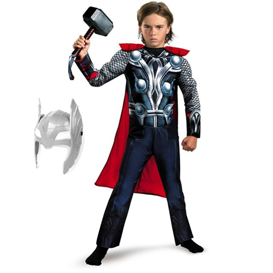 Halloween Costumes For Girls.Kids Muscle Thor Cosplay Costumes Clothes With Harmmer Child Halloween Costumes Children S Day