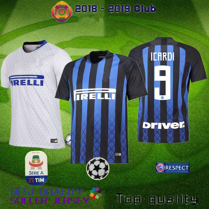 45188dd79 2019 2018 2019 ICARDI Home Away 3rd Jersey CANDREVA EDER ICARDI JOVETIC  Milan Kondogbia Jovetic Icardi Sports Blue J.MARI Milan NAINGGOLAN Shirts  From Wutb, ...