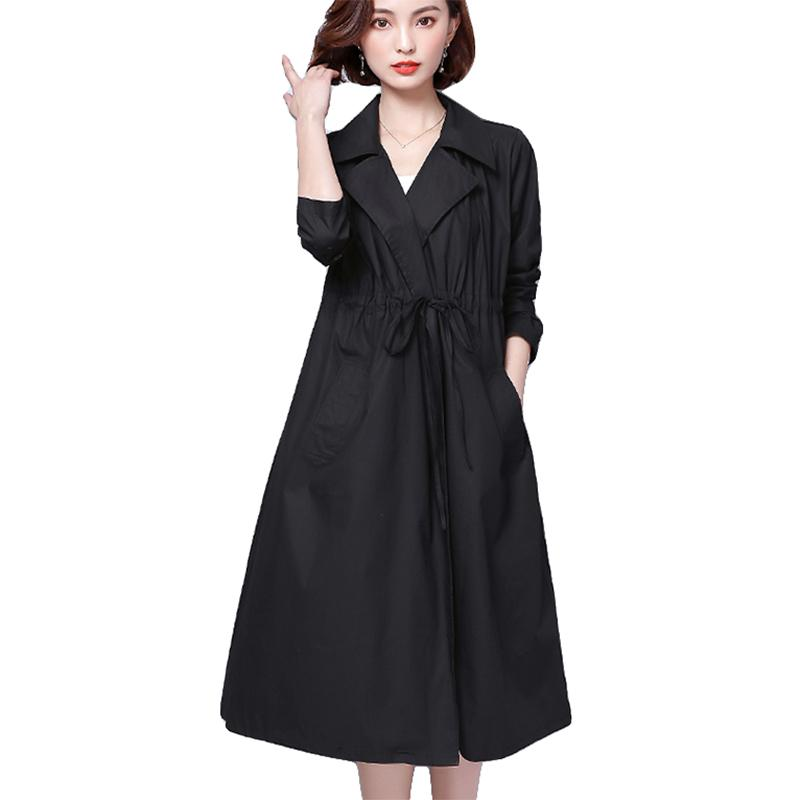 4c76b48723f Trench Coats For Women Office Lady Loose Long Spring Autumn Coat ...