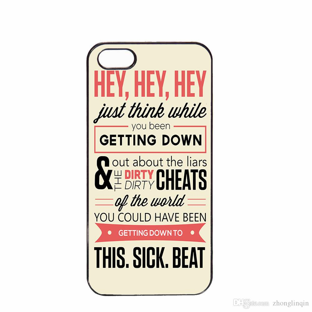 new style 3a2d5 1731a Funky Taylor Swift Lyric Phone Case For Iphone 5c 5s 6s 6plus 6splus 7  7plus Samsung Galaxy S6 S7e