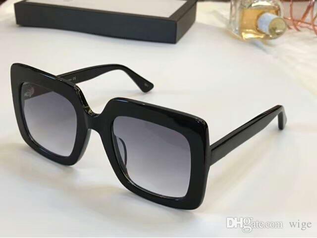 b5727dc24600 Women Square 0328 S Sunglasses Black Grey Oversized Lens 53mm Sonnenbrille  Designer Sunglasses Outdoor Fashion Summer Eyewear New With Box Cool  Sunglasses ...