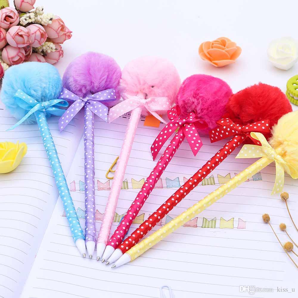 Student Prizes Creative Promotional Pens Balls Plush Ballpoint Pen ...