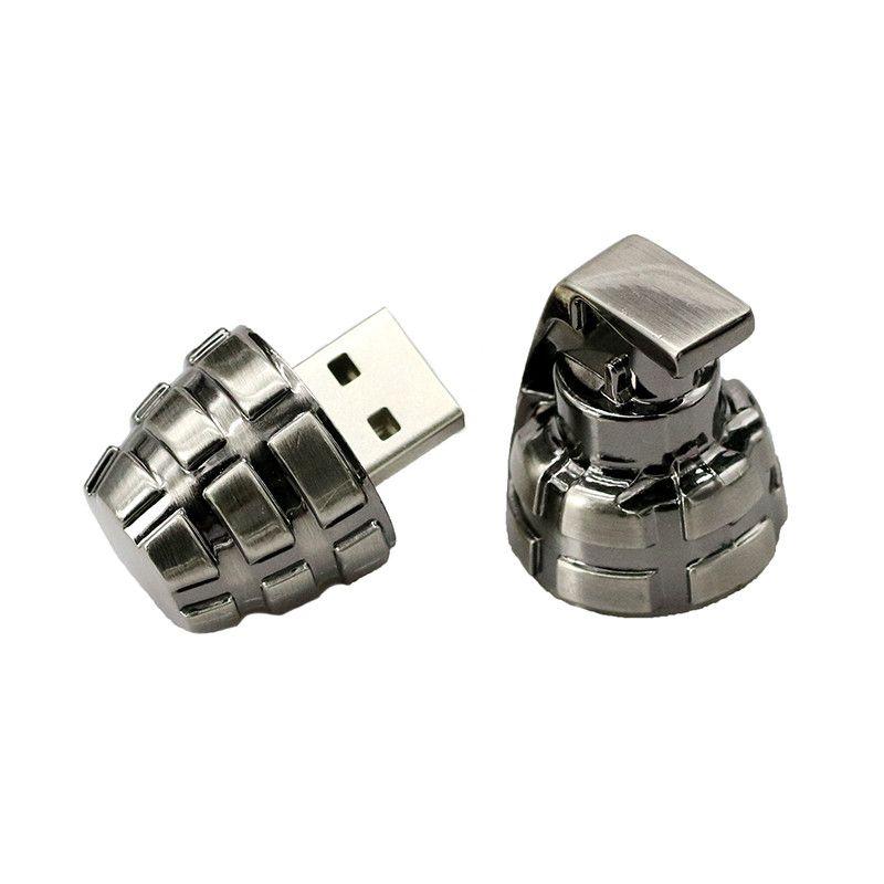 Mini Metal Retro Hand Grenades USB Flash Drive 64GB USB 2.0 Pen Drive 16GB Flash Memory Stick U Disk Pen Drive 32GB Pendriver
