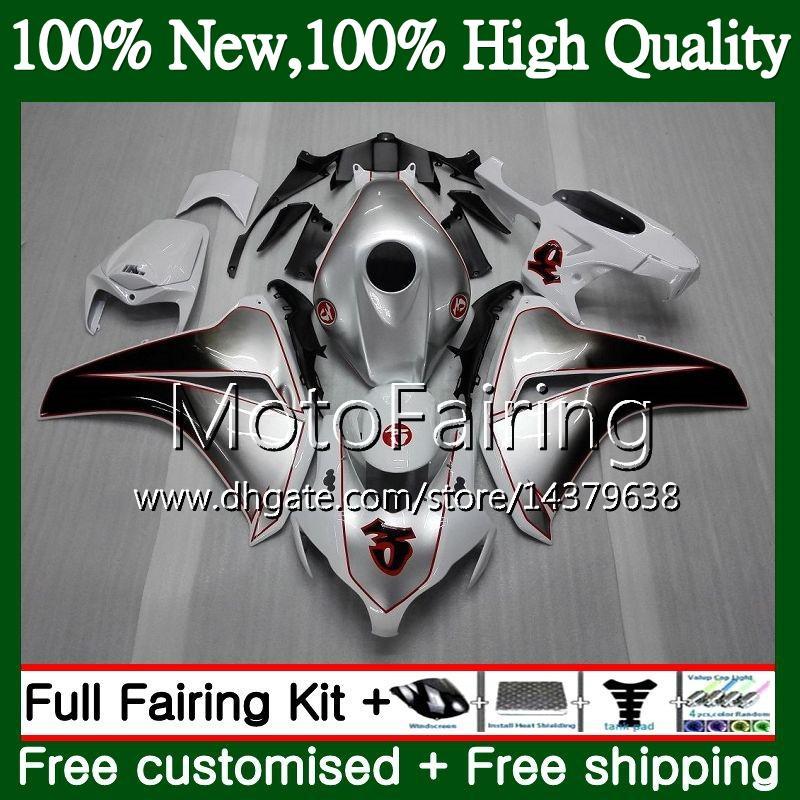 Inyección para HONDA CBR1000 RR 08 11 CBR1000RR 08 09 10 11 42MT16 Nueva Silver CBR 1000 RR CBR 1000RR 2008 2009 2010 2011 Fairing Bodywork