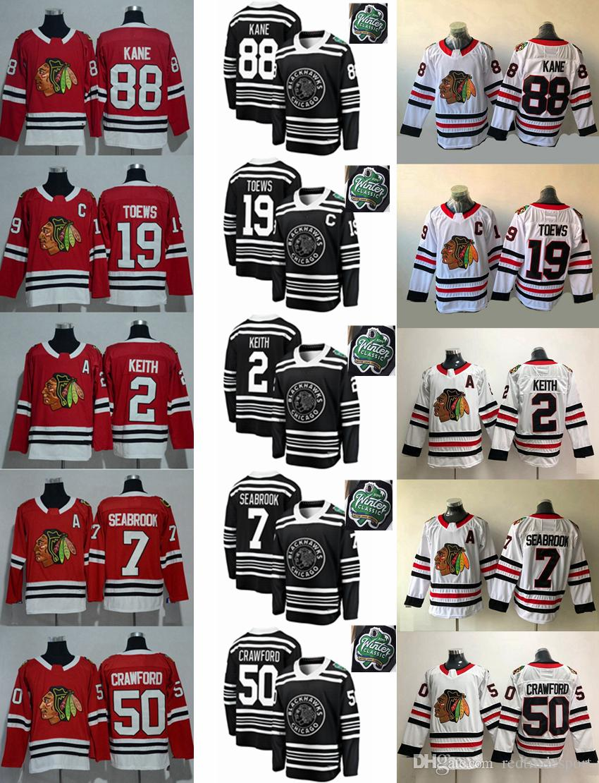 7b484b98d 2019 2019 Winter Classic Chicago Blackhawks 19 Jonathan Toews 88 Patrick  Kane 2 Duncan Keith 7 Brent Seabrook 50 Corey Crawford Hockey Jerseys From  ...