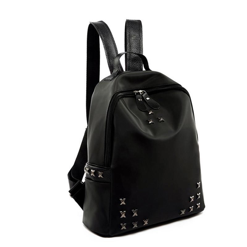 Emale School Bags Women Backpacks Nylon Oxford Trendy Rivet Backpack Female  School Bag For Teenagers Girls Travel Mochilas Famous Brands . 4d29f8caaa227
