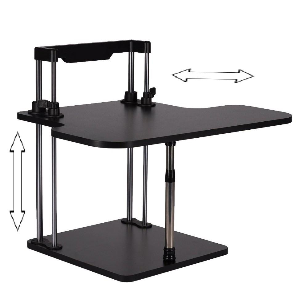 2018 Sit Stand Desk Riser Height Adjule Lightweight Standing Laptop Notebook Monitor Holder With Keybaord Tray Dlj02 From Starship13
