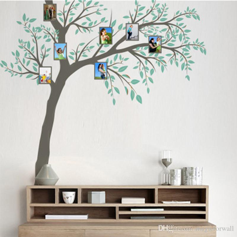 extra large tree picture frame wall stickers living room office