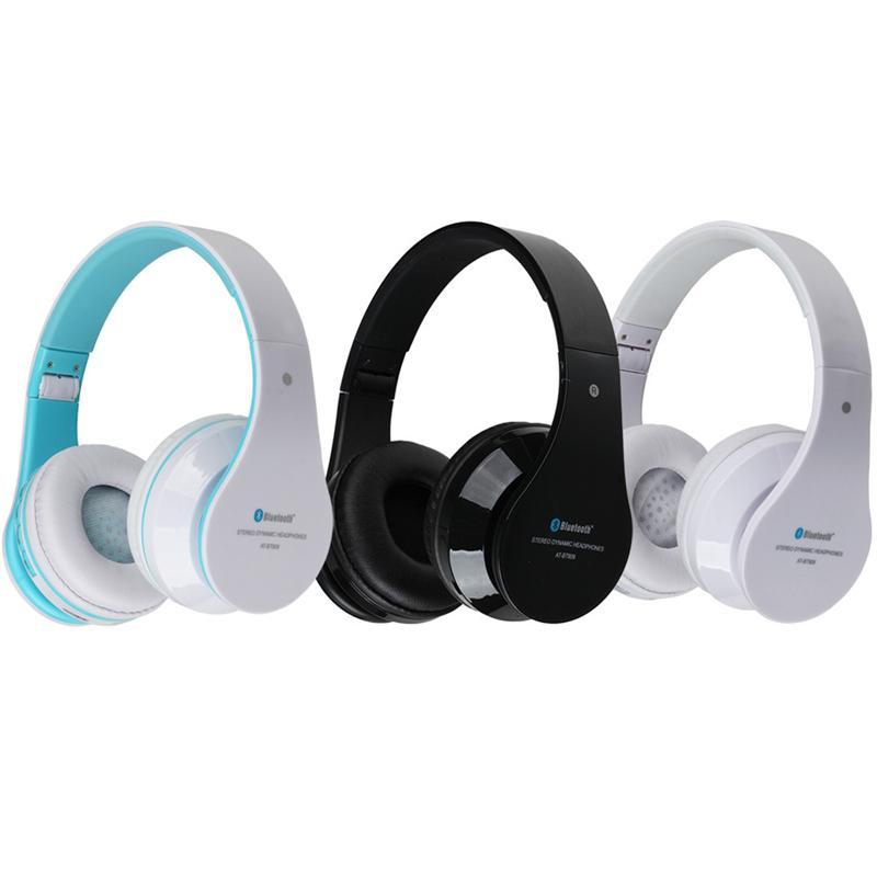 1f3660bbeac Auriculares Telefono AT BT809 Auriculares Inalámbricos Estéreo Con Micrófono  Y Auriculares Estéreo Bluetooth Para La Ranura Del Mic FM TF Para IPhone  IPad ...