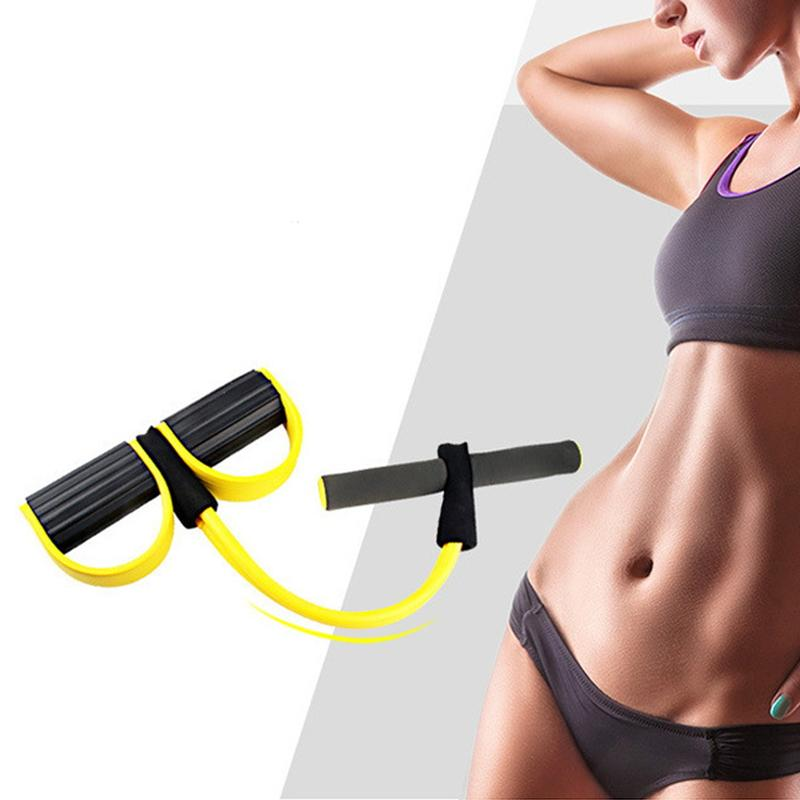 Traditional & Cultural Wear Resistance Stretch Yoga Belts Tube Yoga Pilates Fitness Muscle Exercise Workout Yellow For Wholesale