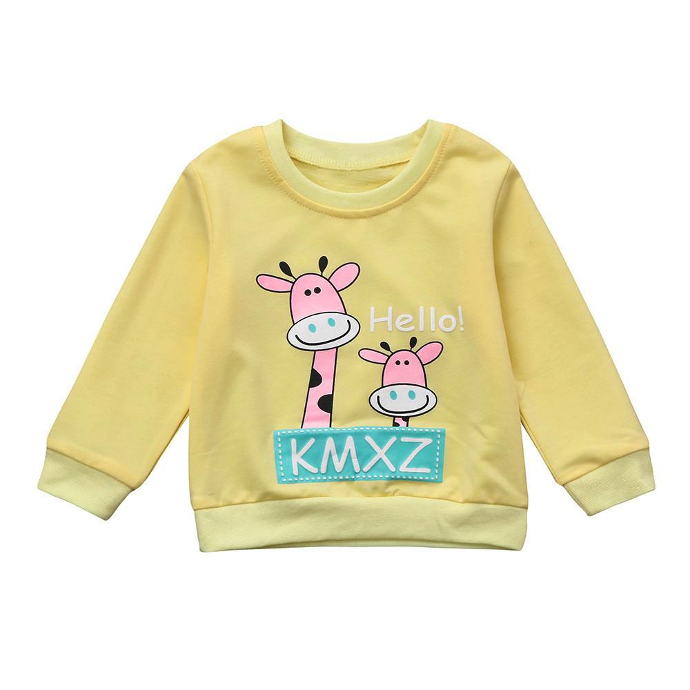 Mutter & Kinder Hoodies & Sweatshirts Weiche Baumwolle Modische Baby Kleinkind Kinder Kinder O-ansatz Lange Hülse Kleidung Jungen Sweatshirts Top Baby Kid Infant Tops