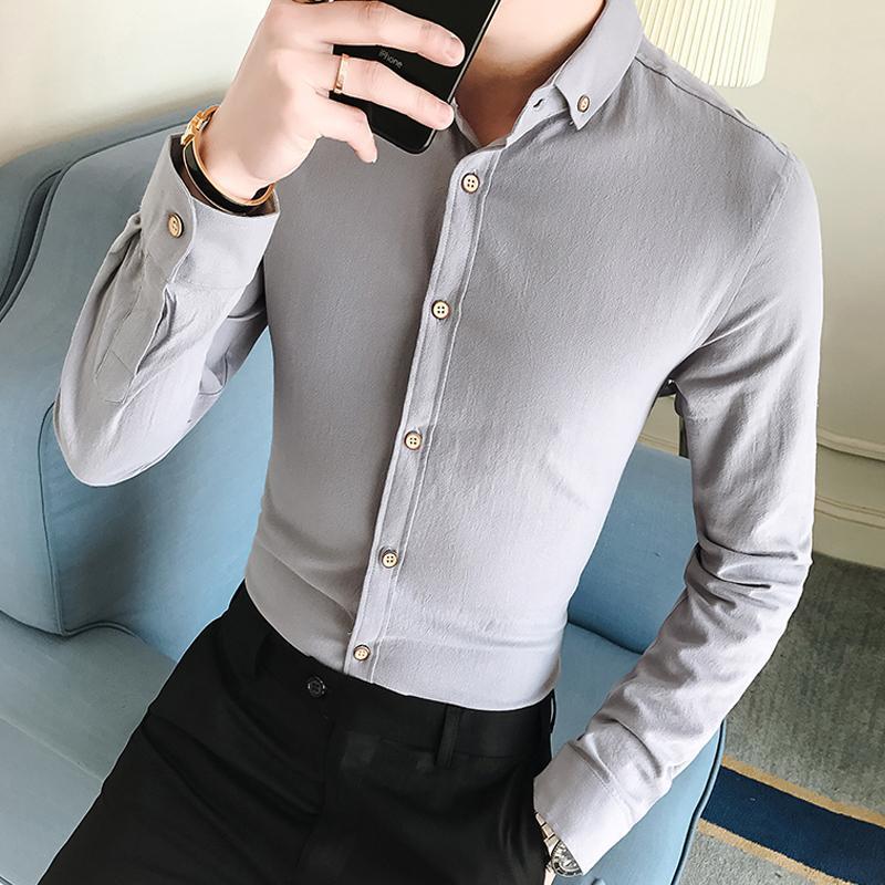huge discount 7bac3 30faf Männer Französisch Manschettenknöpfe Hemd 2018 Neue Herrenhemd Langarm  Casual Männliche Marke Shirts Slim Fit Französisch Manschette Hemden Für  Männer