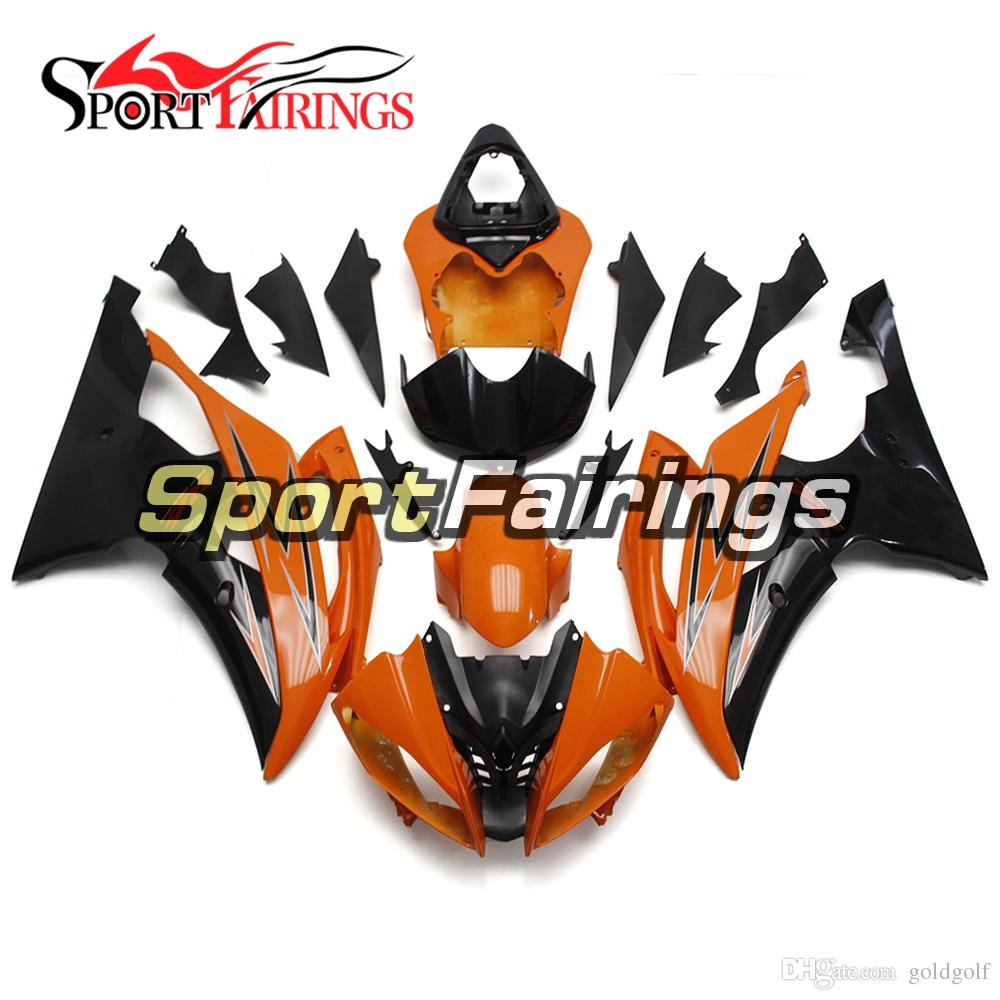 Orange Black Full Motorcycles Fairing Kit For Yamaha YZF600 R6 YZF-R6 2008 - 2016 09 12 13 14 15 Injection ABS Plastic Motorcycle Bodywork
