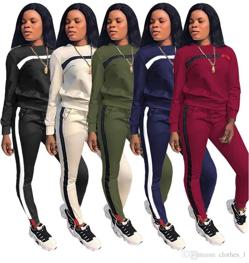 79205b4372857 Acheter Vêtements Pour Femmes Survêtement À Manches Longues À Capuche  Legging 2 Pièces Ensemble Slim Sweat Collants Sport Costume Pull Pantalon  Femmes ...