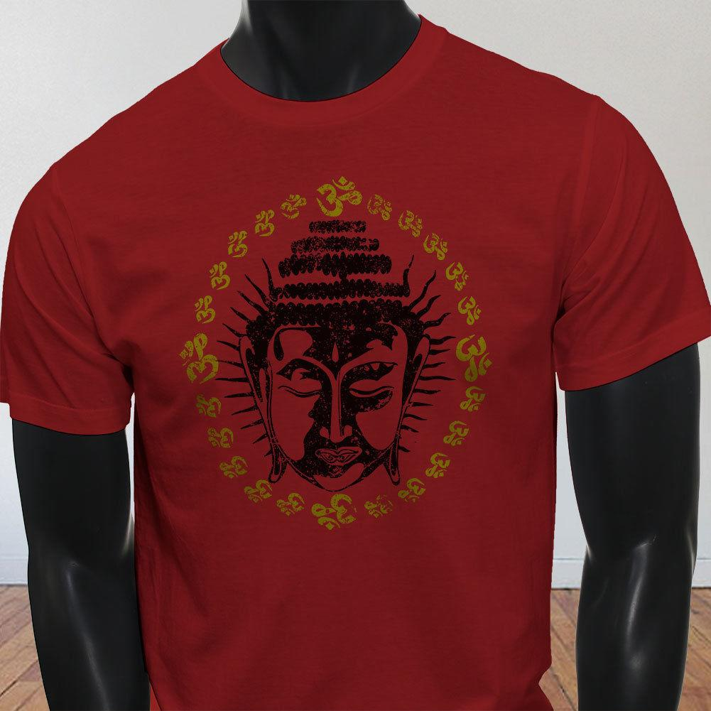 d7ada7e434 BUDDHA OHM HEAD YOGA MEDITATION NAMASTE SPIRITUAL Mens Red T Shirt Funny  Unisex Casual Gift Best Site For T Shirts Funny T Shirt Companies From ...