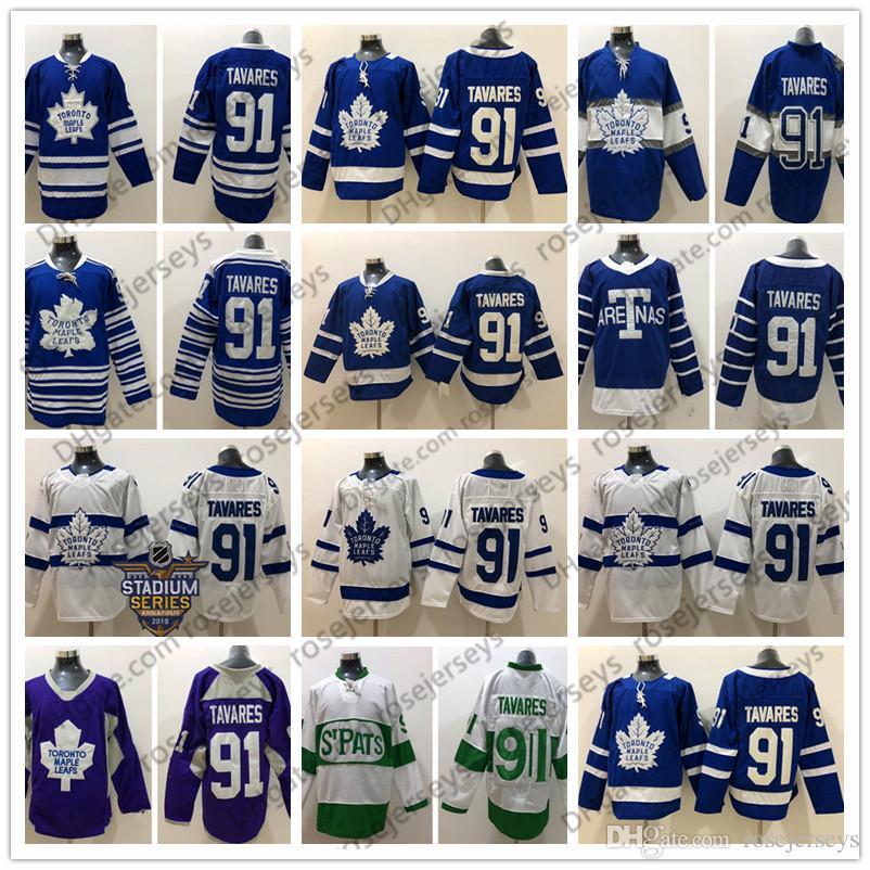 047fcd61c Toronto Maple Leafs  91 John Tavares Blue 2017 Centennial Third ...