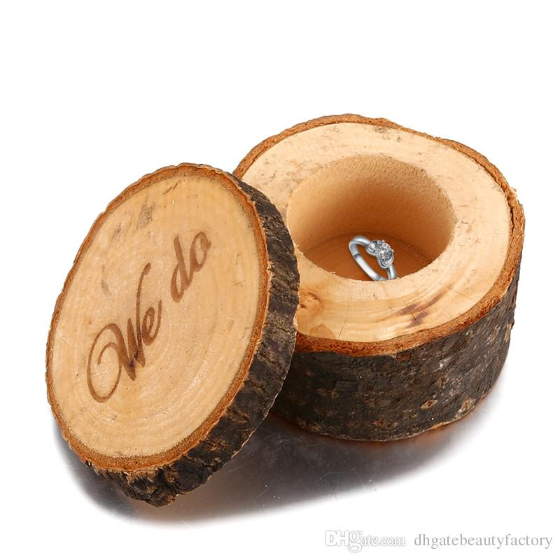 2018 Wooden Ring Box Country Style Wedding Ring Box WE DO Pattern ...