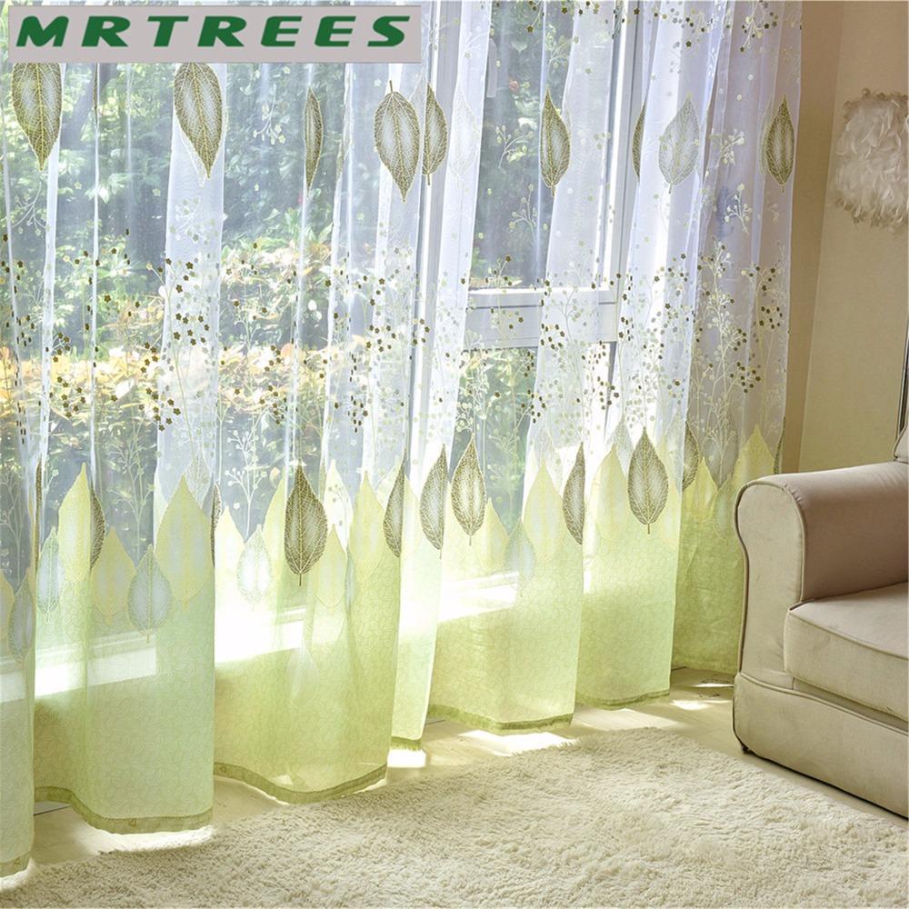 Fenêtre moderne Tulle Rideaux pour salon chambre rideaux voilage pour la  cuisine fini Tulle fenêtre rideaux