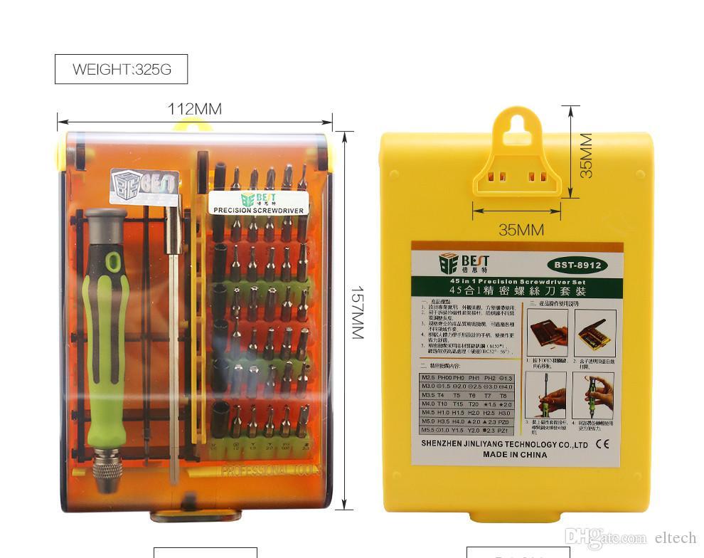 الدقة 45 في 1 مفك مجموعة توركس البسيطة أدوات يدوية المغناطيسي مفك كيت افتتاح أدوات إصلاح الهاتف