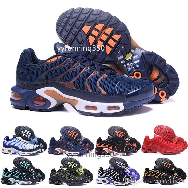 89e4479309f22 Acheter 2017 Nike Tn Plus Air Max Nouvelle Arrivée TN Chaussures De Course Pour  Hommes, Bonne Qualité Tn Trainers Dentelle Jusqu'à Respirant Mesh Coussin  ...