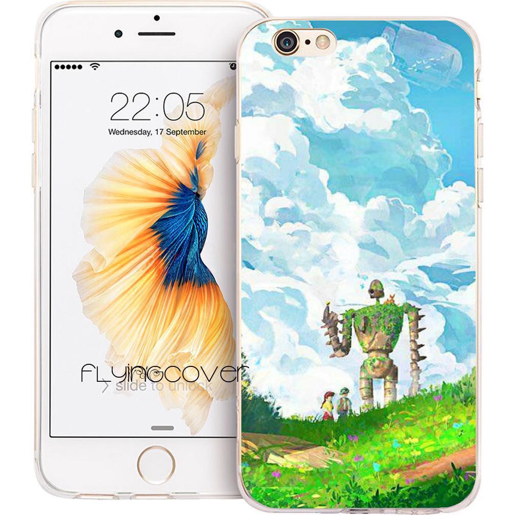 ef548f4db42 Carcasas Fundas Castle In The Sky Fundas De Carcasa Para IPhone 10 X 7 8  Plus 5S 5 SE 6 6S Plus 5C 4S 4 IPod Touch 6 5 Funda De Silicona TPU ...