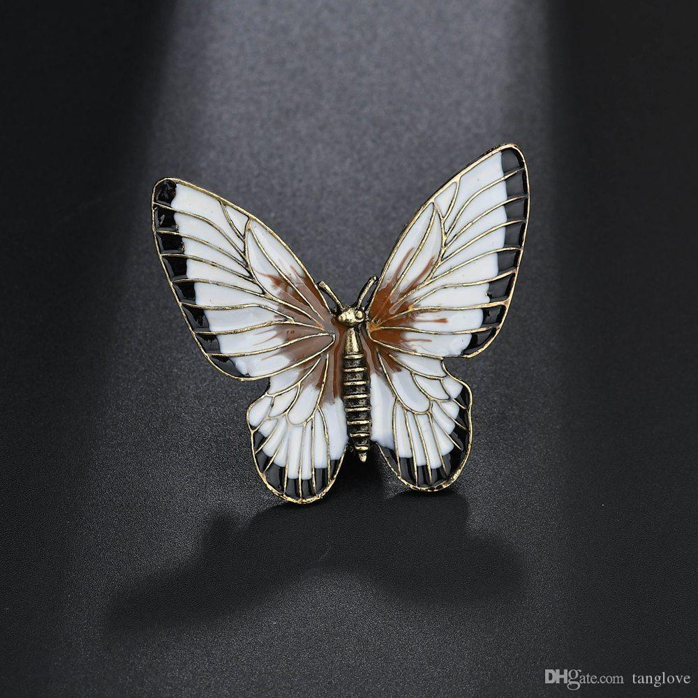 Fashion Jewelry Elegant Crystal Enamel Jewelry Butterfly Brooches ... c1f1878a2289