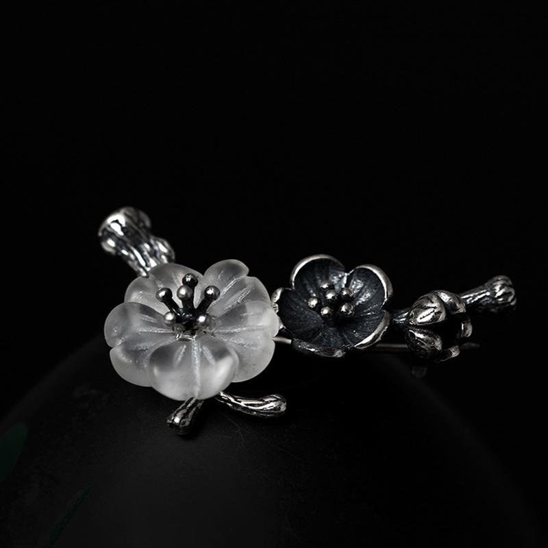 0e5c6ab251a8 Compre Broches De Cristal De Ciruela 925 Plata Esterlina 3.26g Broches  Vintage De Elegancia Salvaje Para Mujeres Joyas Finas A  29.02 Del  Dujuanflower ...