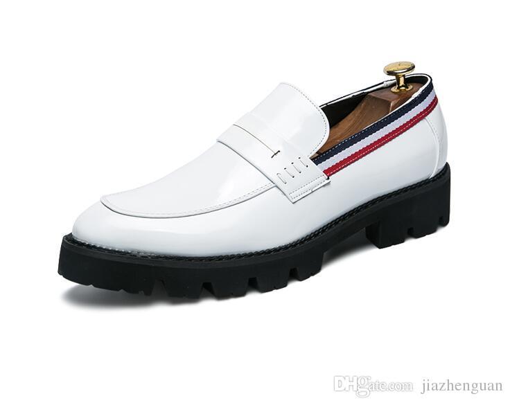 50c3b96ea68 2017 Hot Sales Luxury Designer Loafers Men Genuine Leather Slip On ...