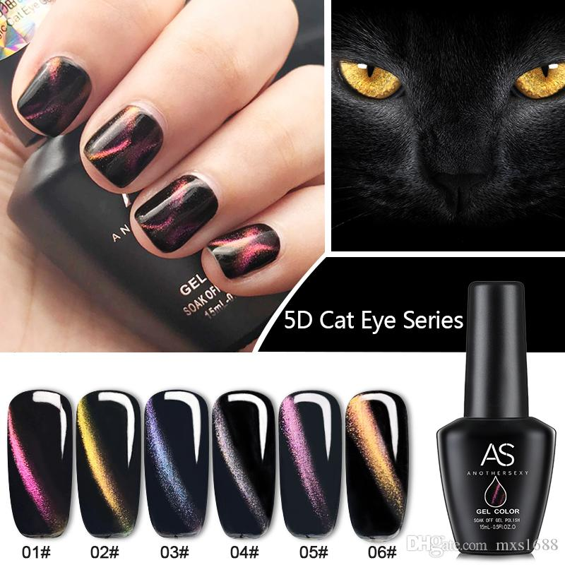 2018 5d Cat Eye Gel Soak Off Gel Nail Art Nail Gel Polish Diy ...