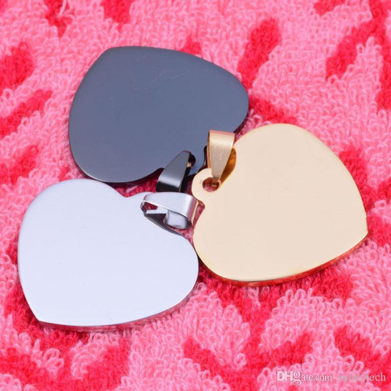 Tag a forma di cuore Pet Tag Ciondolo Nome cane Tag indirizzo Inciso Pet Accessori gioielli Spedizione gratuita ZA6046