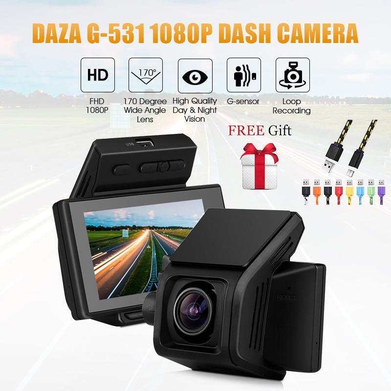 New Daza Fhd 1080p Dash Cam G 531 Car Dvr 170 Wide Angle Dashboard