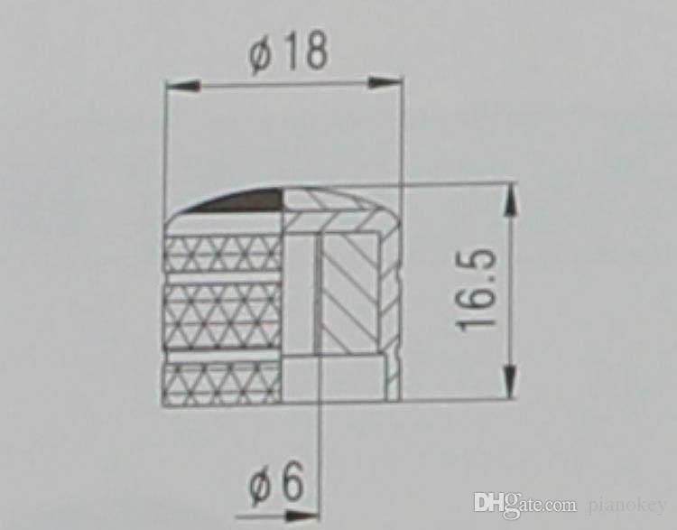 Korean Electric Guitar /Bass Potentiometer Knob Cap Abalone top Metal Cap