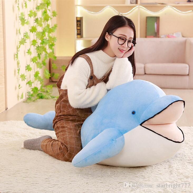 2019 Fashion Giant Soft Dolphin Plush Toy Big Soft Stuffed Dolphin