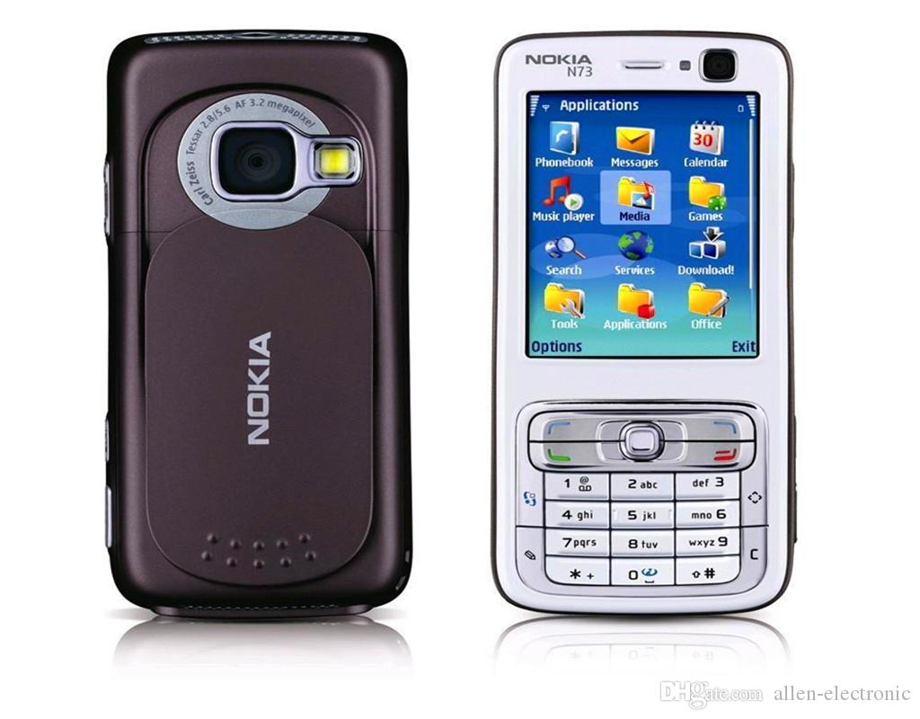 2016 Sale Wholesale Original Refurbished for Nokia N73 Mobile Cell Phone Unlocked Gsm Symbian English Arabic Russian Keyboard free Dhl